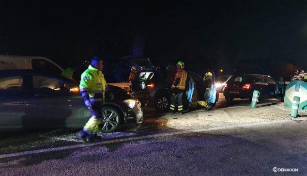 Imagen: Aparatoso acidente en Dénia