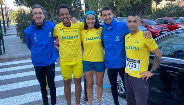 Image: CA Dianium athletes in the 10 K of Valencia