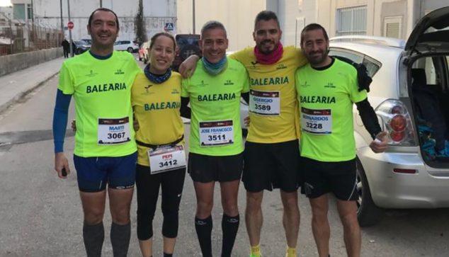 Imagen: Atletas del Dénia Corre en Palmera
