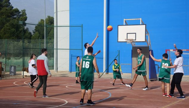 Image: Basketball in the provincial championship of adapted sport