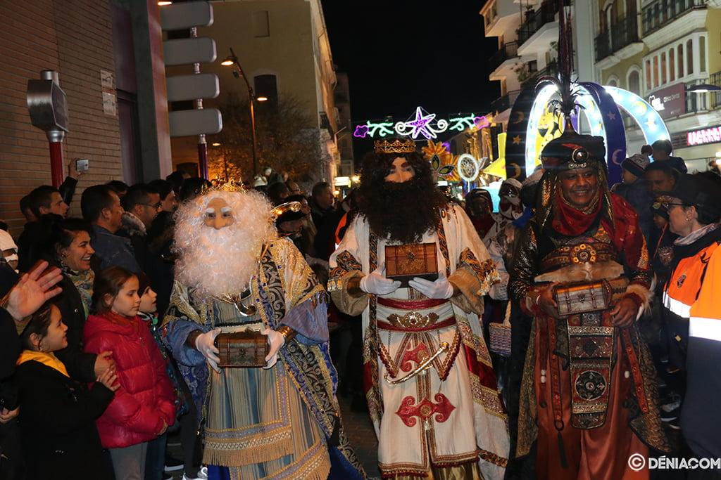 Melchor, Gaspar en Baltasar in Dénia