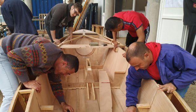 Immagine: costruzione di barche a vela
