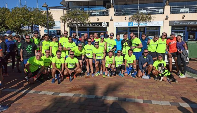 Image: Club runners in the Roscón de Reyes