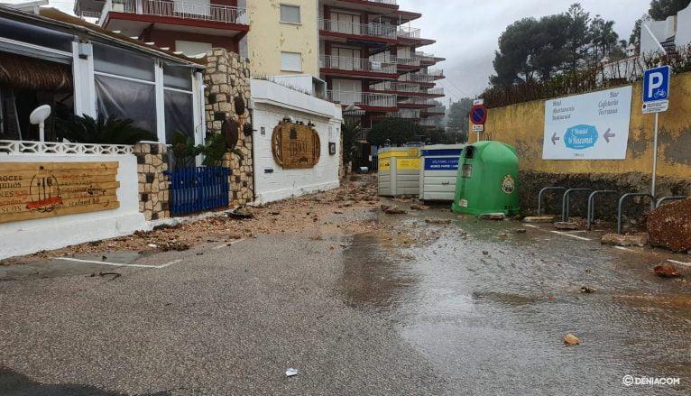 Damage to El Trampolí