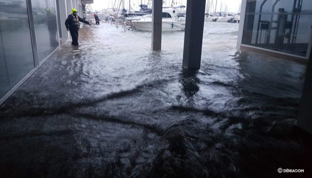Image: Water enters the Yacht Club