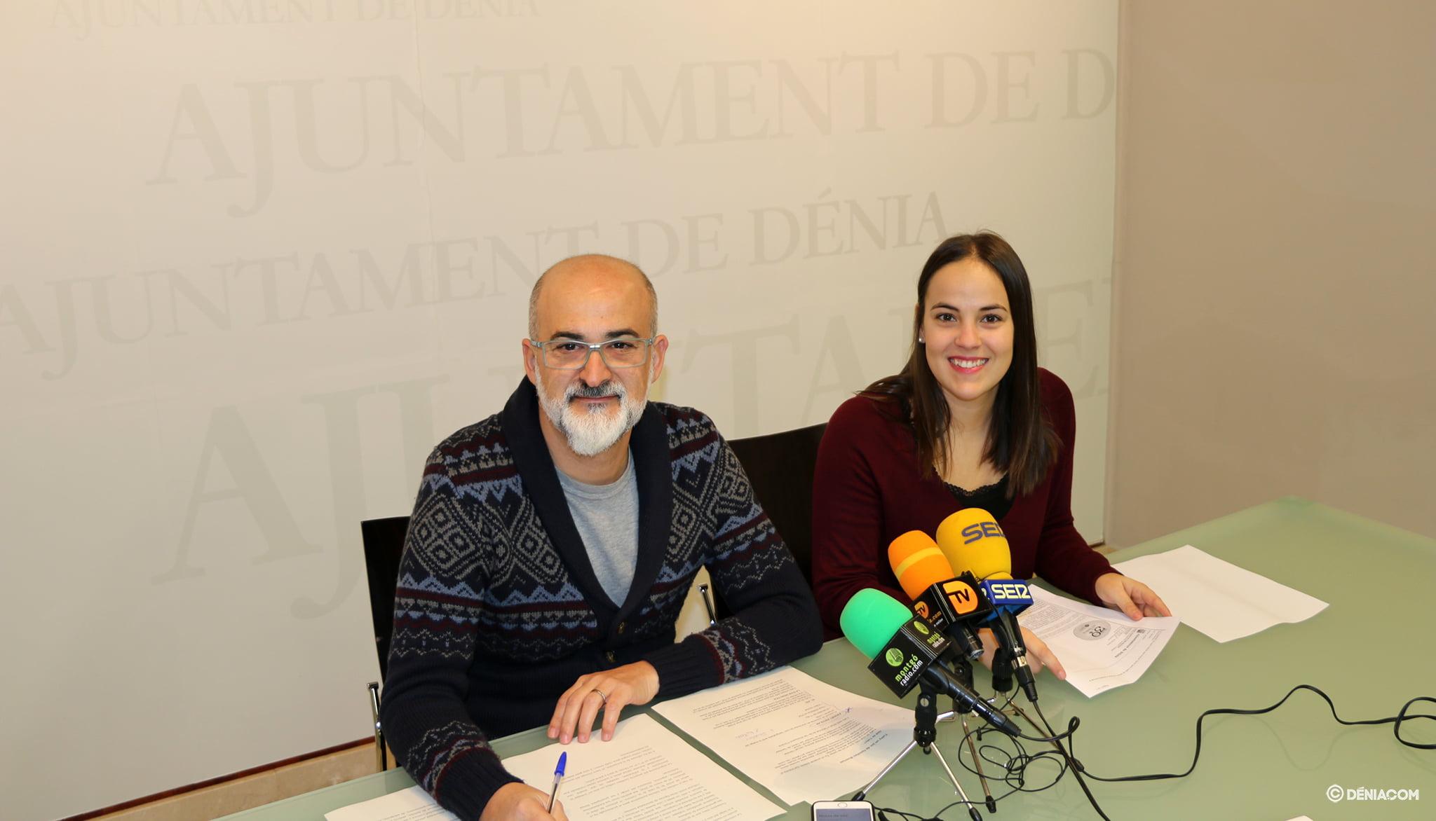 Javier Scotto et Melani Ivars lors de la conférence de presse