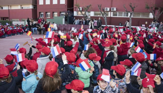 Afbeelding: studenten ontvangen hun buitenlandse partners
