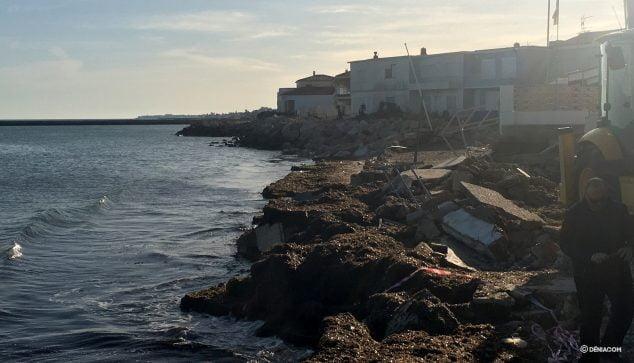 Image: La plage des Deveses après Gloria