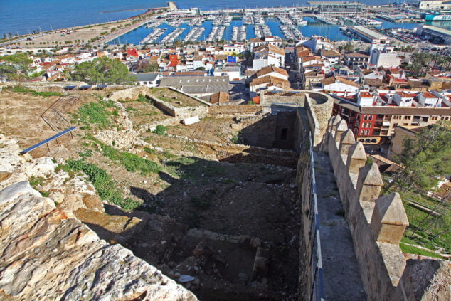 Image: El Verger Alt, area of ​​the Dénia castle located in front of the port