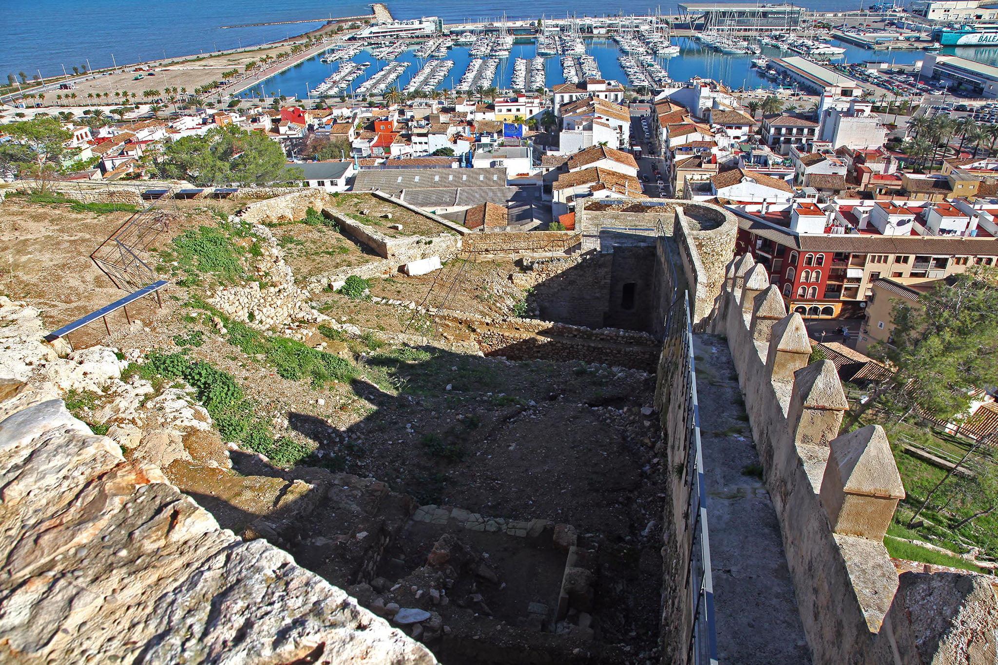 El Verger Alt, zona del castillo de Dénia situada frente al puerto