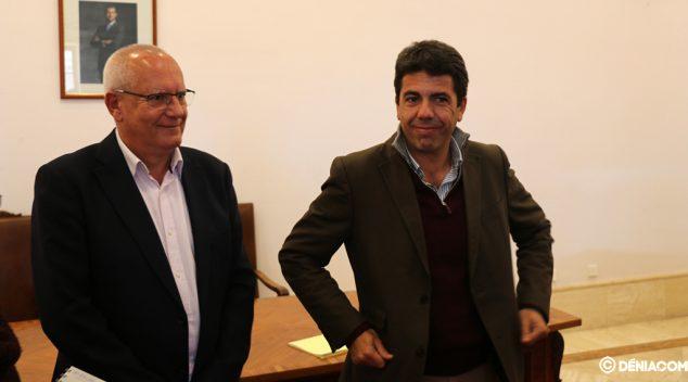 Image: Meeting between Grimalt and Mazón