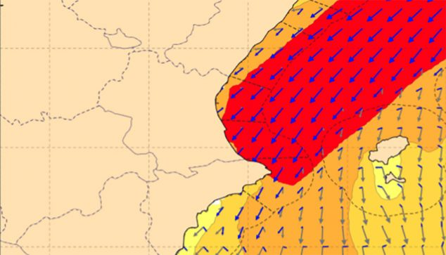 Image: There will be gusts of up to 100 kilometers per hour