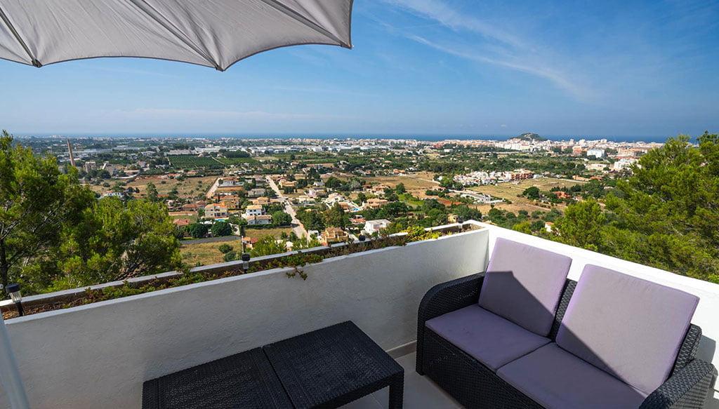 Виды от съемной квартиры в Дении - Aguila Rent a Villa