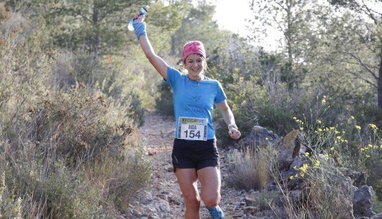 Aida Pérez en la carrera de Pedreguer