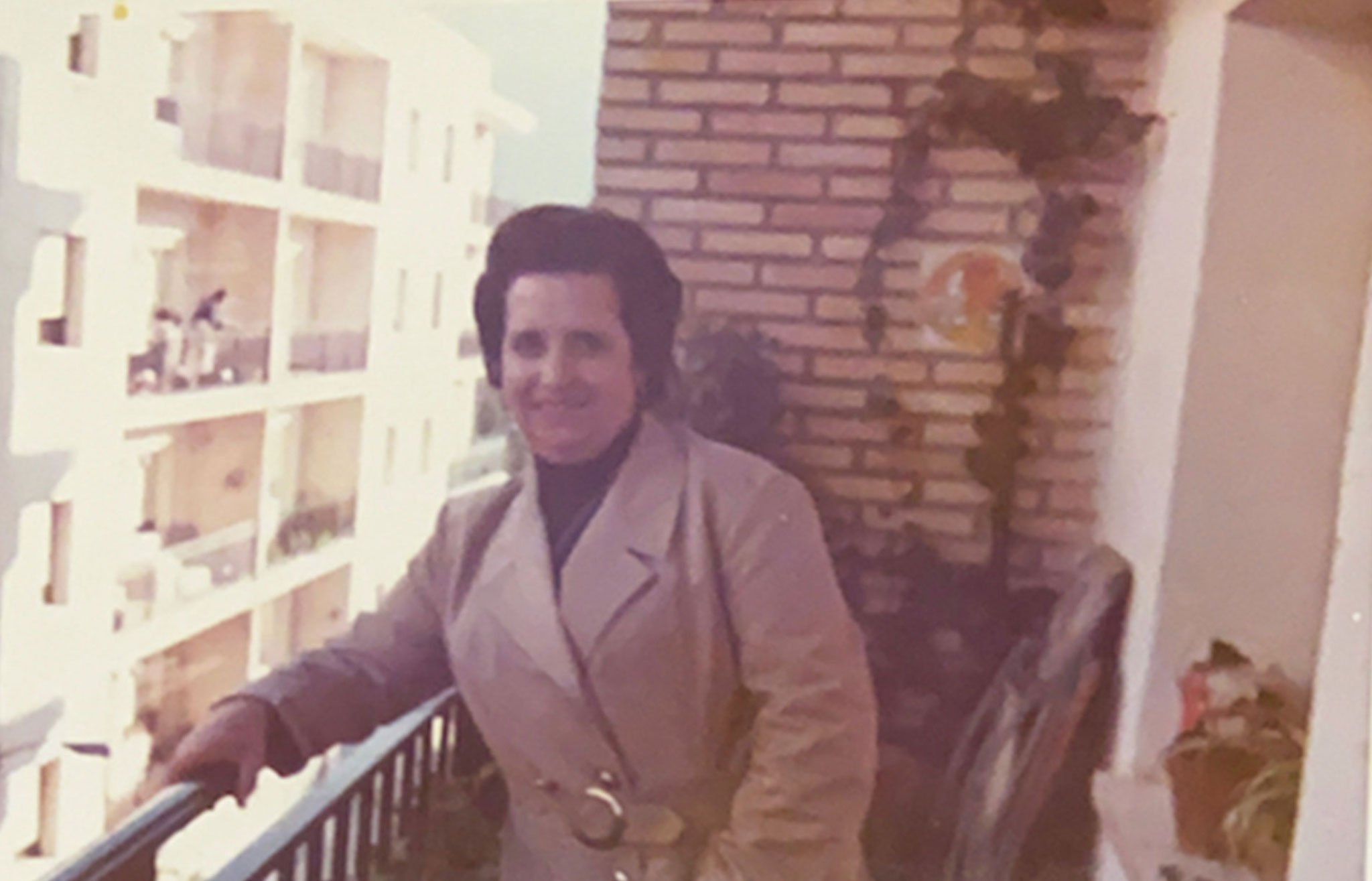 Asunción Molina, the mother of Carmelo Nofuentes, in 1968. Image taken from her balcony on Mallorca Street.