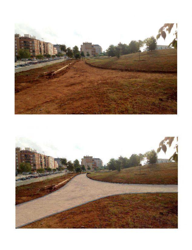 Imagen: Antes y después del Bosc de Diana