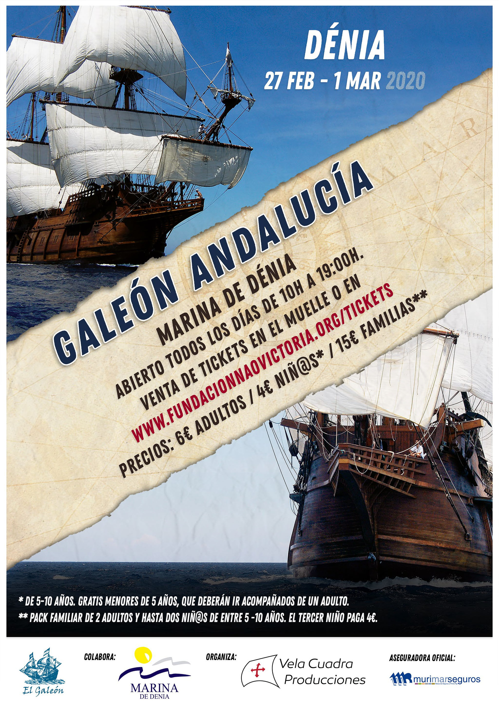 Andalusian galleon poster
