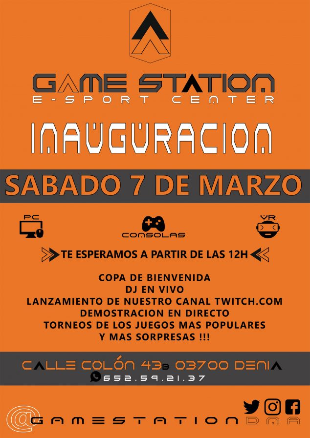 Image: Poster of the inauguration of Game Station in Dénia
