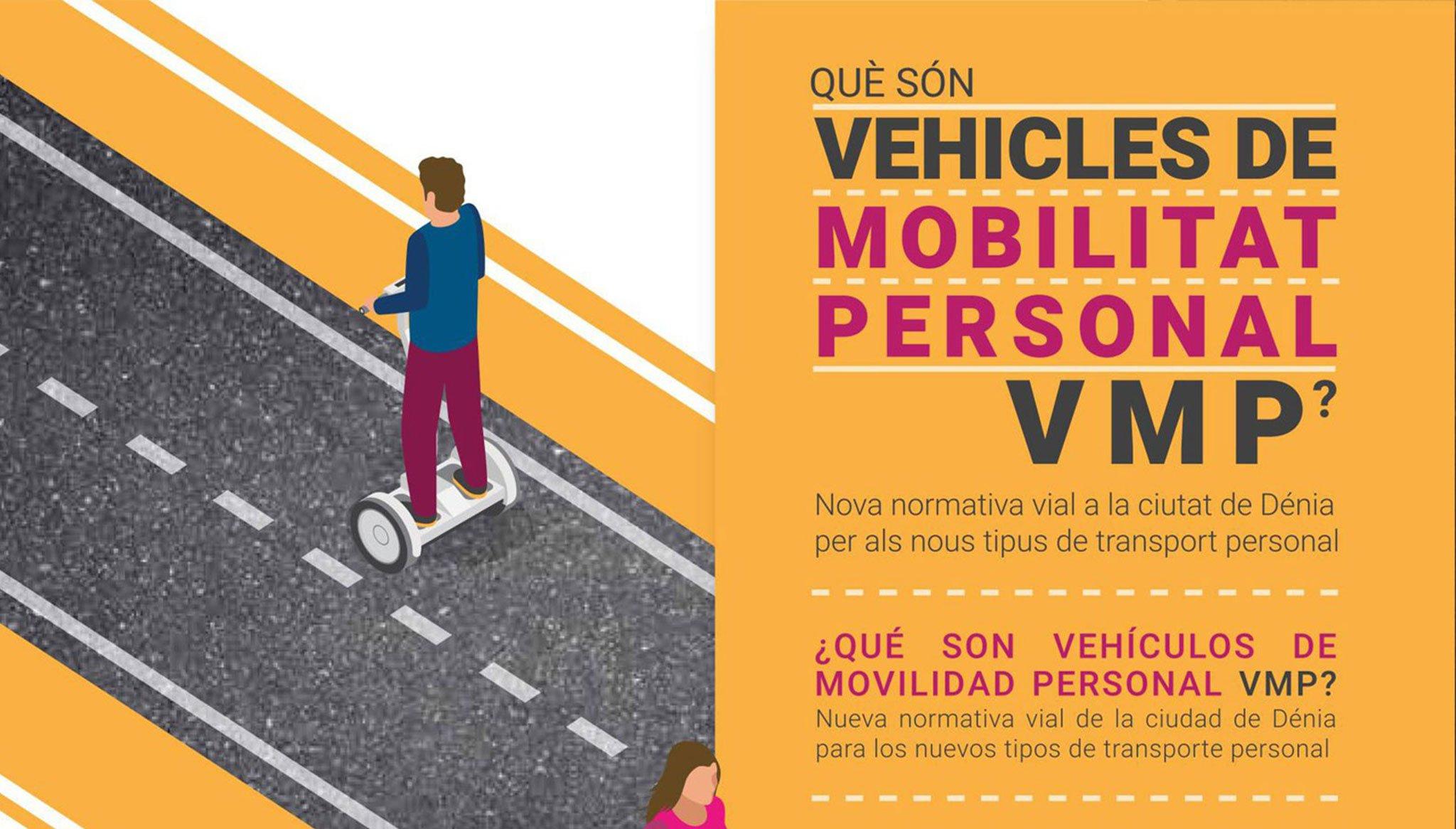 Cartel informativo sobre Vehículos de Movilidad Personal – Gestoría Puig Cañamás