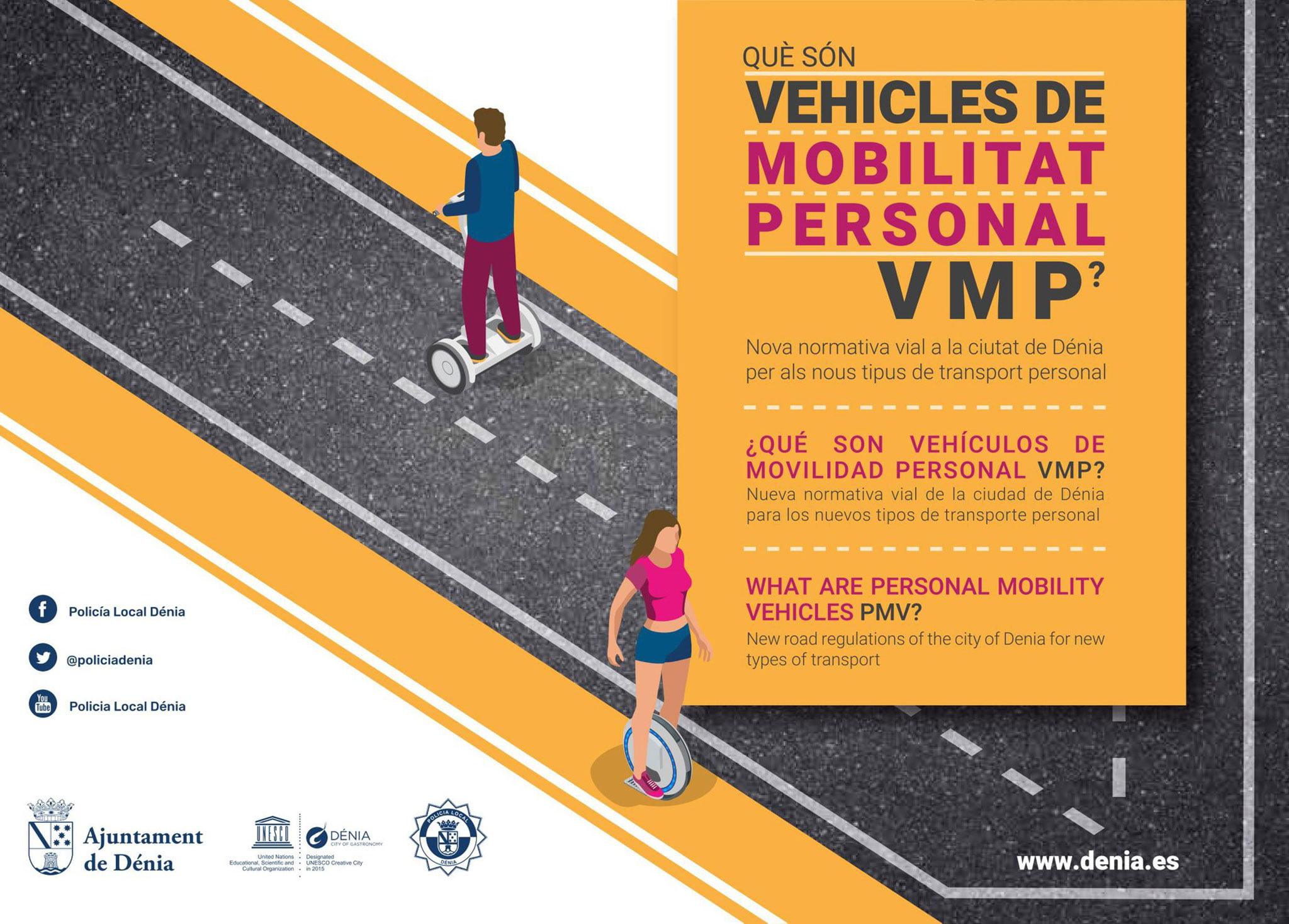 Infografía sobre la normativa de conducción de los VMP – Gestoría Puig Cañamás