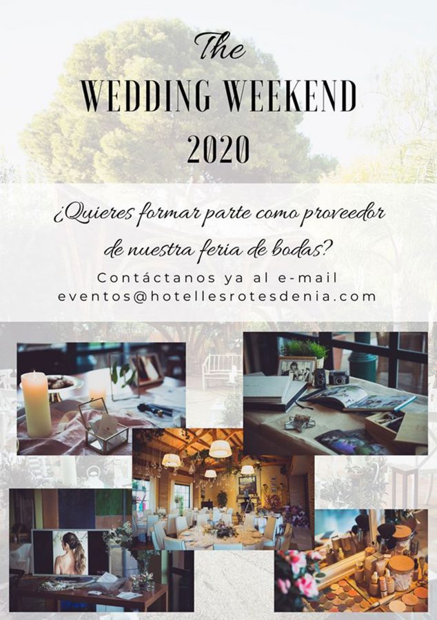 Image: Wedding Weekend Poster at Hotel Les Rotes