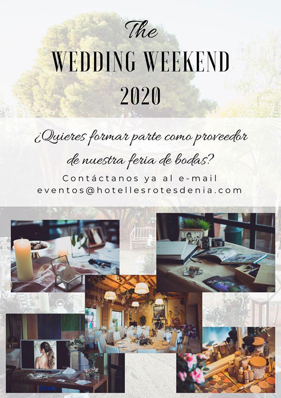 Cartel del Wedding Weekend en Hotel Les Rotes
