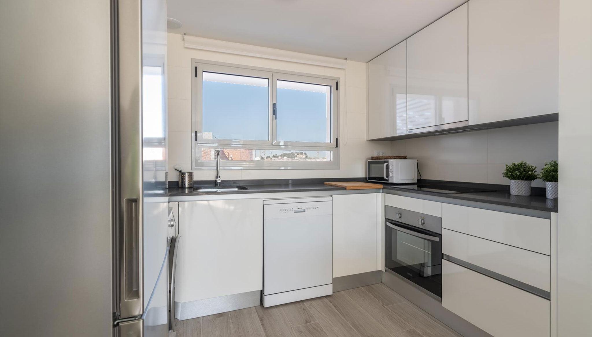 Cuina d'un apartament de lloguer a Dénia - Quality Rent A Villa