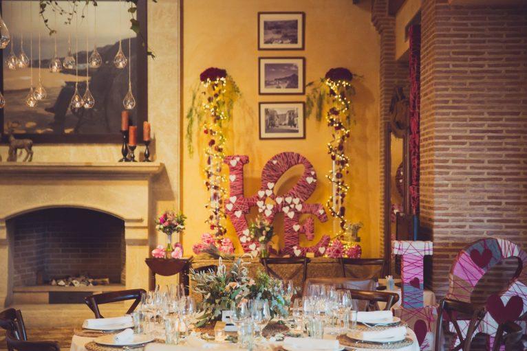 Muestra de la decoración para bodas en el Wedding Weekend de Hotel Les Rotes