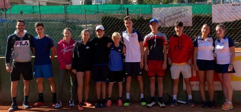 Equipo cadete del Club de Tenis Dénia