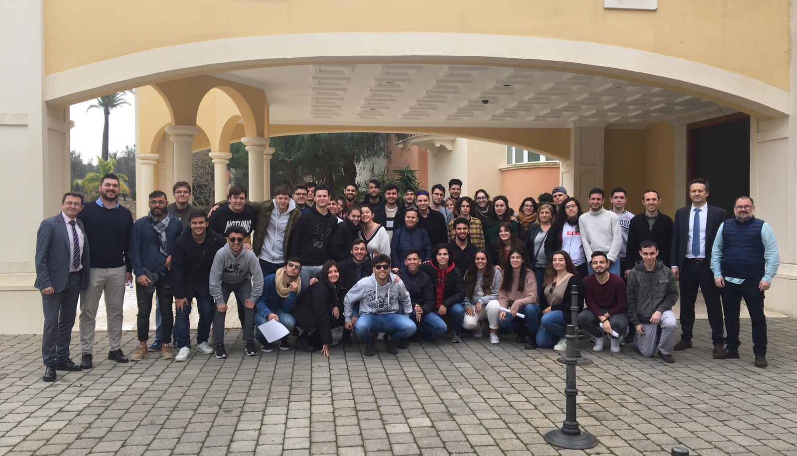 Estudiants visitant l'Hotel Marriot La Sella Golf