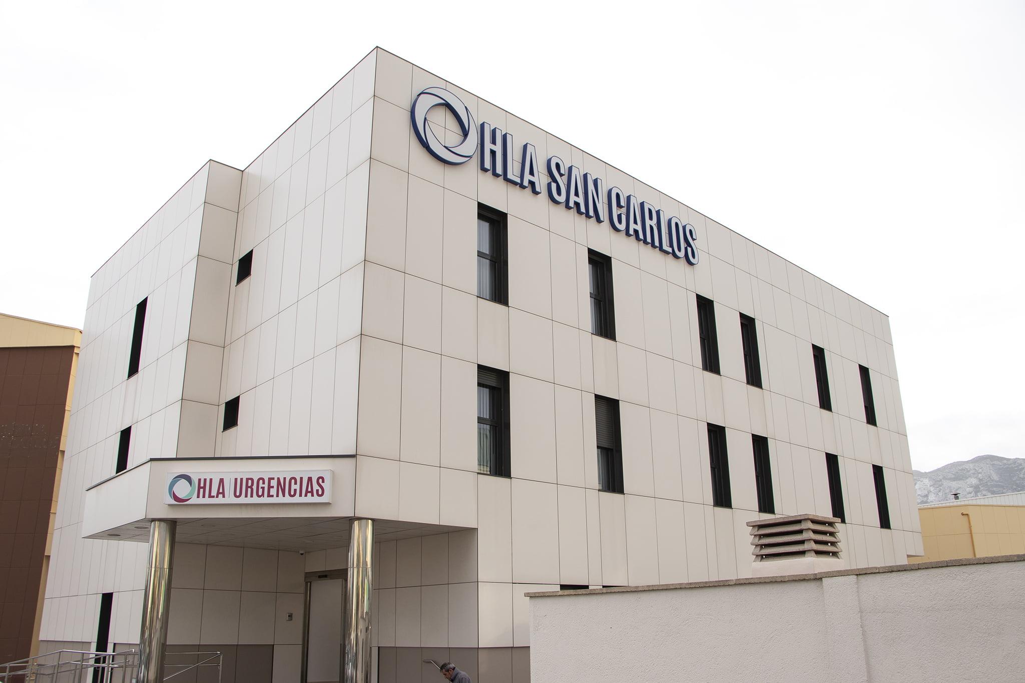 Fachada de las nuevas instalaciones de Hospital HLA San Carlos