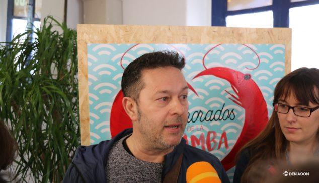 Imagen: Ferran Giró durante la presentación de Enamorados de la gamba