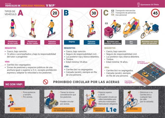Image: Information brochure on personal mobility vehicles in Dénia