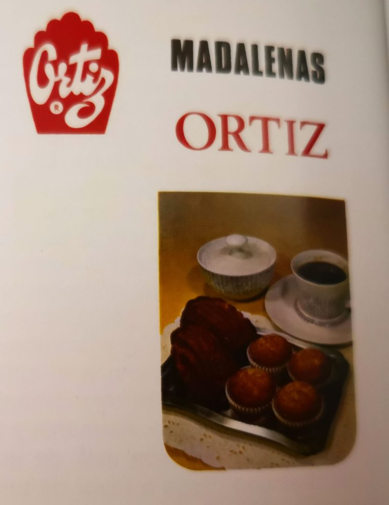 "Advertising of Magdalenas Ortiz in the 70s (Photo: ""100 years of Social Security in Dénia"", by Carmelo Nofuentes)"