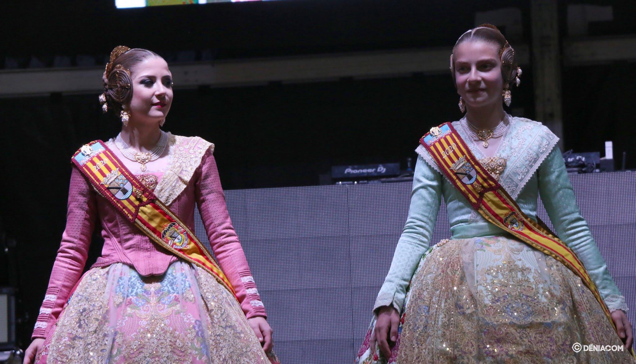 The Falleras Mayores de Dénia in the Sopar del Germanor