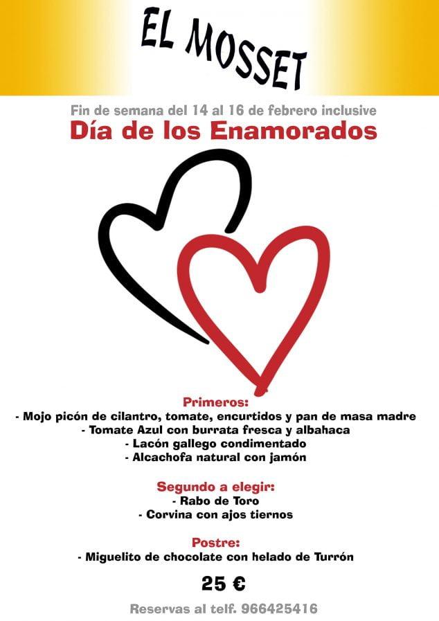 Imagen: Menú de San Valentín en El Mosset