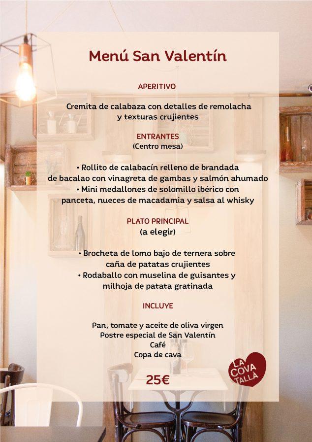 Imagen: Menú de San Valentín - La Cova Tallà