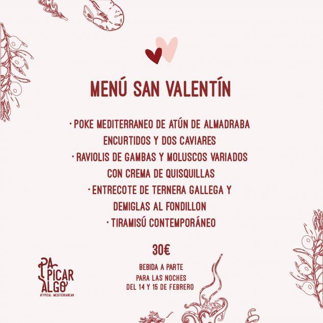 Imagen: Menú de San Valentín en Pa Picar Algo