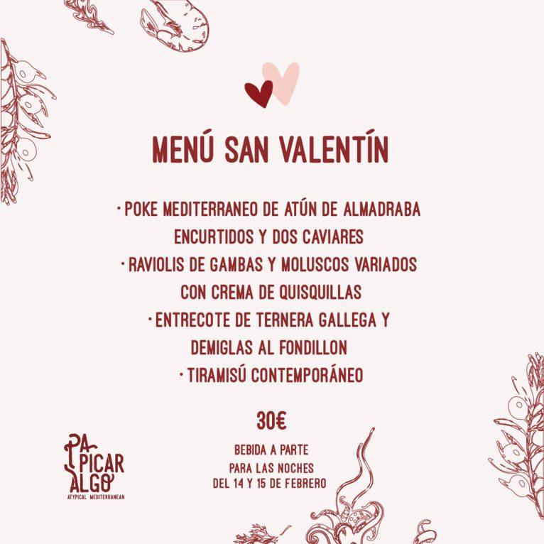Menú de San Valentín en Dénia - Pa Picar Algo