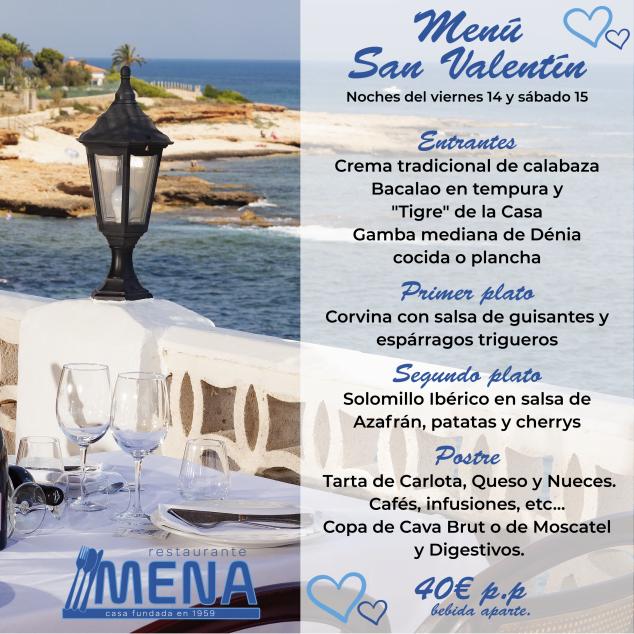 Imagen: Menú de San Valentín en Resturante Mena