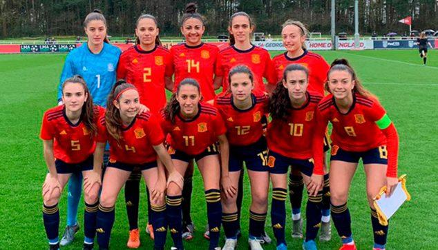 Image: Eleven of the Spanish National Team Sub 16 | RFEF photo