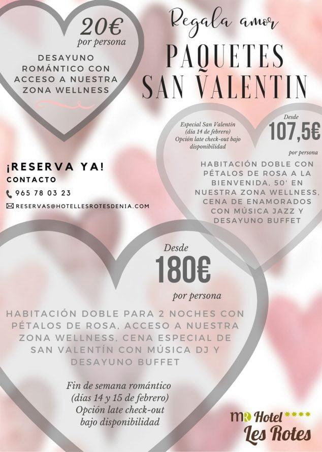 Imagen: Packs de San Valentín en el Hotel Les Rotes