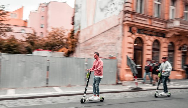 Image: Electric scooter on the road