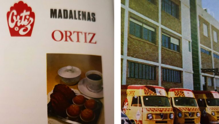 """Advertising and facade of the former Magdalenas Ortiz in Dénia (Photo: """"100 years of Social Security in Dénia"""", by Carmelo Nofuentes."""