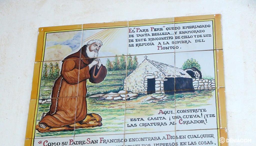 Representación del Pare Pere en la ermita que lleva su nombre