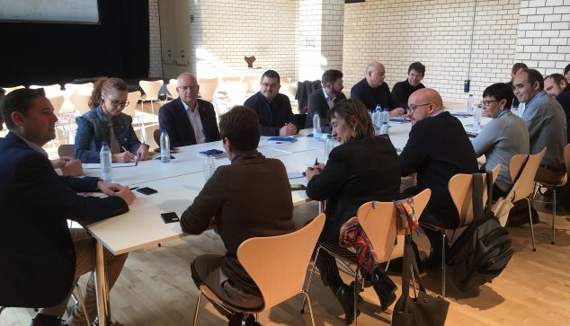 Image: Work meeting chaired by the mayor of Burgos