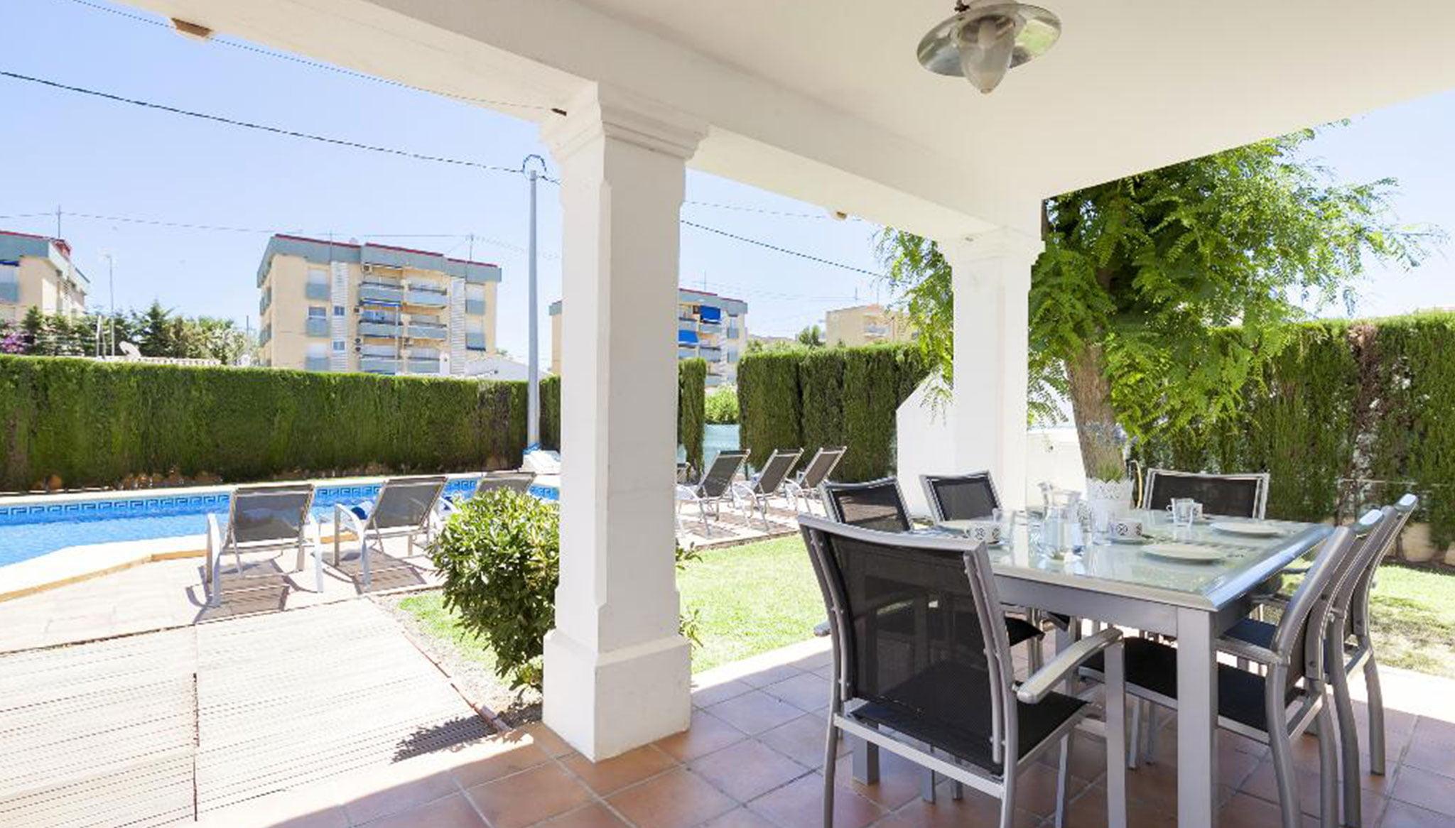 Terrassa d'un xalet de lloguer a Dénia - Quality Rent a Vila