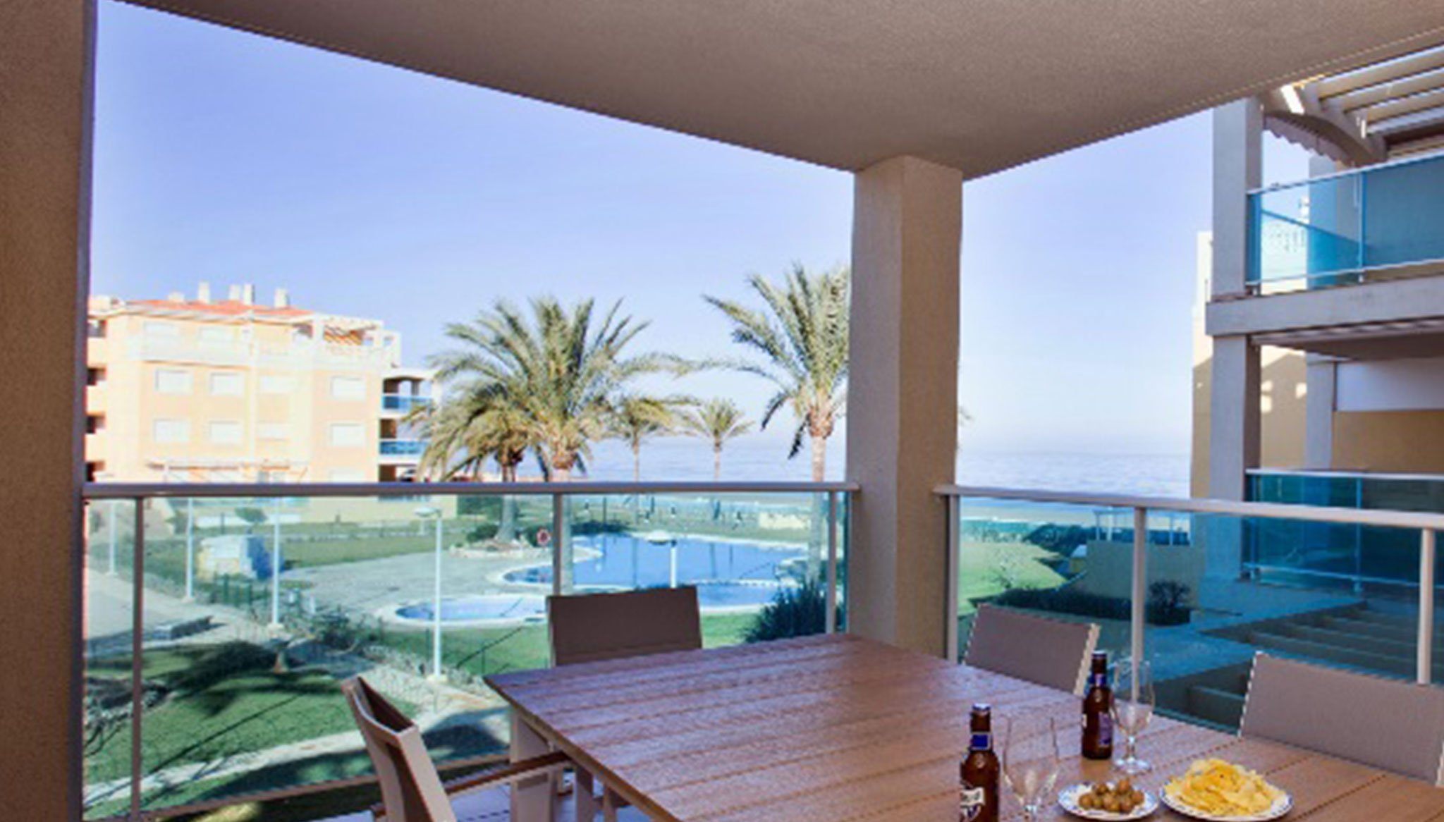 Views from the terrace of an apartment on the beach for rent in Dénia - Deniasol