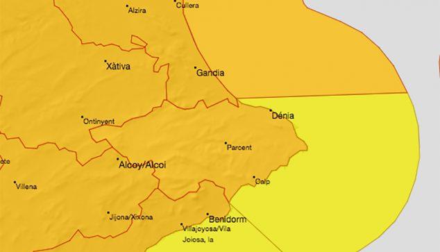 Image: Orange alert in March Dénia