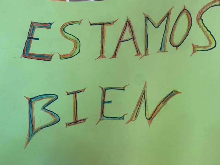 Cartel con un mensaje tranquilizador para los familiares, en el perfil de Facebook de la Residencia de ancianos Santa Llúcia